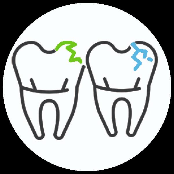 Broke or Fractured Teeth